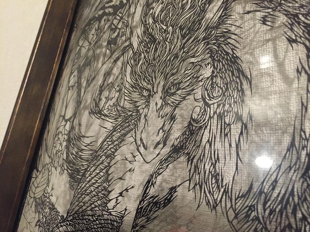 ドラゴン 切り絵